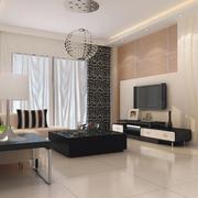 素雅欧式客厅地板砖装修