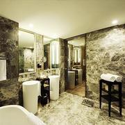 纹理气质酒店公厕设计