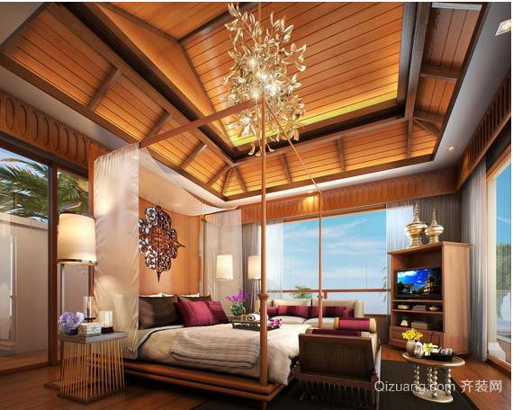 东南亚别墅卧室装修效果图