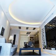 大气客厅石膏线装修设计