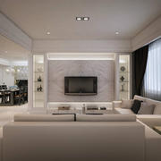 精致欧式客厅电视墙装修
