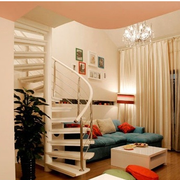 时尚旋转家用楼梯装修设计