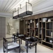 现代中式别墅橱柜效果图