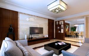 时尚美观的现代客厅吊顶电视背景墙图片大全