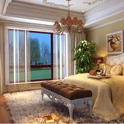靓丽美式别墅卧室装修设计