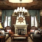华美美式别墅窗帘设计