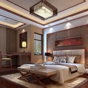 经典中式别墅卧室装修设计
