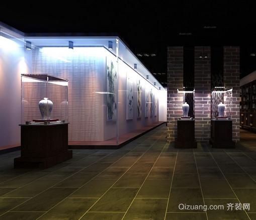 中式书画展厅装修设计效果图