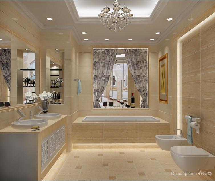 小户型高档马可波罗瓷砖卫生间装修效果图