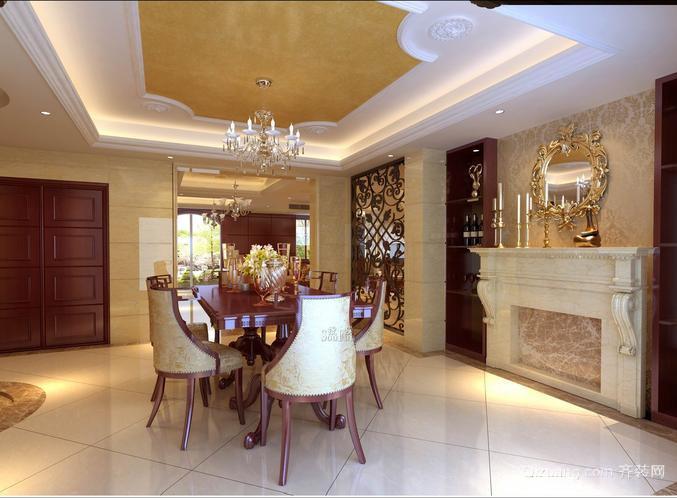 三室二厅欧式客厅石膏线装修效果图