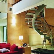 清新自然家用楼梯装修设计