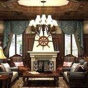 高档欧式奢华别墅窗帘设计