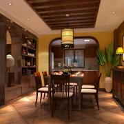 大气东南亚餐厅吊顶设计