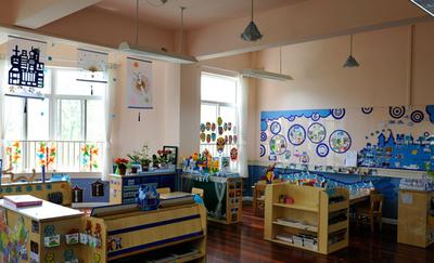 现代简约的幼儿园教室布置设计装修效果图鉴赏