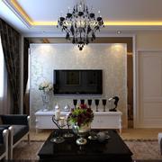 经典欧式客厅电视墙装修
