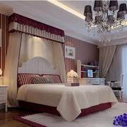 素雅美式二居主卧装潢设计