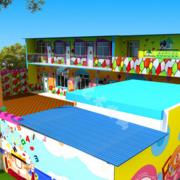 高档幼儿园墙绘设计装修