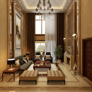 精装中式客厅装修设计