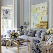 清新客厅沙发背景装修设计