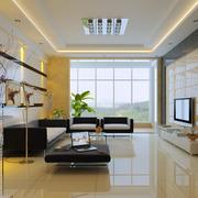 大气欧式别墅客厅沙发墙设计