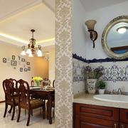 精装美式客厅隔断装修设计