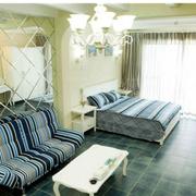 清新地中海单身公寓装修设计
