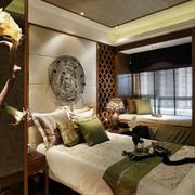 时尚大气东南亚卧室飘窗设计