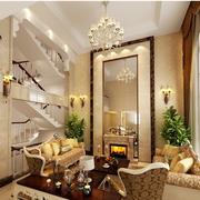 高档欧式别墅客厅电视背景墙设计