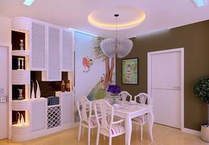 90平米欧式客厅酒柜装修效果图