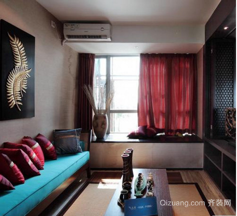 雅致的东南亚别墅飘窗装修效果图