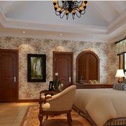 时尚美式别墅卧室装修设计