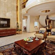 时尚家庭客厅电视墙瓷砖装修