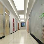 简约现代办公室走廊吊顶设计