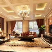奢华欧式别墅客厅电视背景墙设计