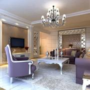 靓丽现代客厅装修设计