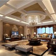 豪华欧式别墅窗帘装修设计