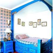 高档地中海风格卧室背景墙装修