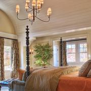 经典美式别墅窗帘设计