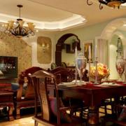 古典餐厅餐桌设计