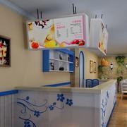 现代奶茶店吧台