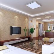 大气欧式客厅电视墙装修
