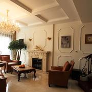 高贵客厅石膏线装修设计