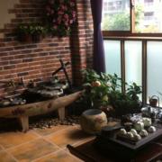 复古家庭入户花园装修设计