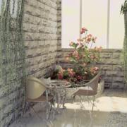 素雅家庭入户花园装修设计