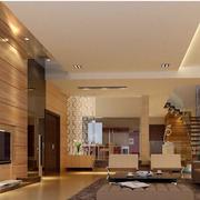 大气东南亚客厅背景墙装修设计