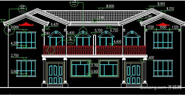 豪华农村自建别墅设计