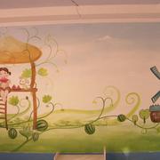 唯美幼儿园壁画设计