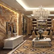 高档家庭客厅电视墙瓷砖装修