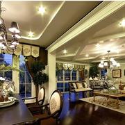 高档美式别墅窗帘设计