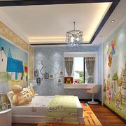 精装儿童房背景墙设计